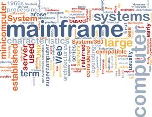 Mainframe word cloud
