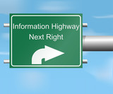 Highway sign to information highway
