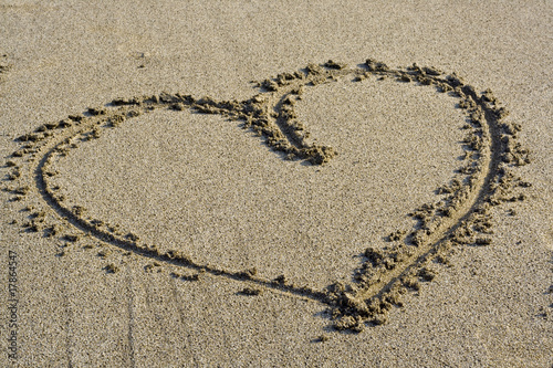 Love Symbol in the sand