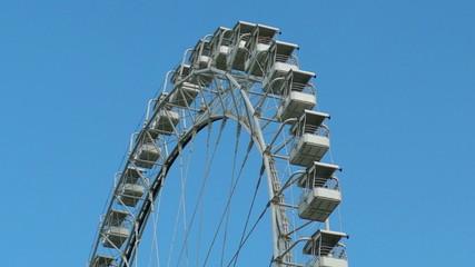 HD 1080p: Ferris wheel on sky background