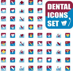 Vector medical dental icons set, sings, shiny web buttons, emble