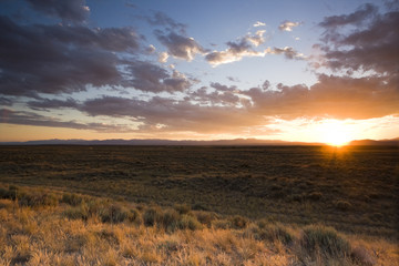 Sunset on Prairie