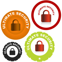 Lock icon. Vector set for web.