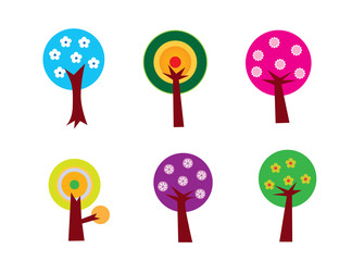 Flower Tree Set