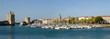 Leinwanddruck Bild - Panoramique du vieux port de La Rochelle en France