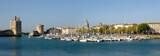 Panoramique du vieux port de La Rochelle en France
