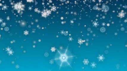 beautiful stars and snowflakes LOOP HD
