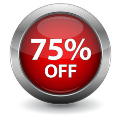 3D Red Sale Button - 75% OFF