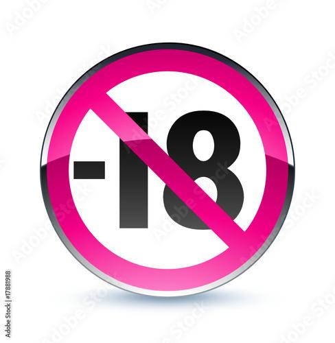 ic ne internet avertissement site interdit aux moins de 18 ans stock image and royalty free. Black Bedroom Furniture Sets. Home Design Ideas