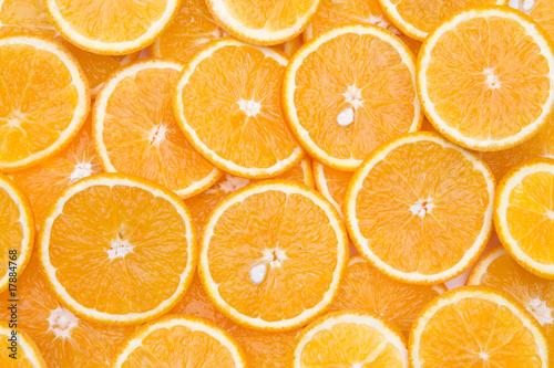 Fotobehang Plakjes fruit Orangenscheben