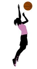Female Basketball Player Illustration Silhouette