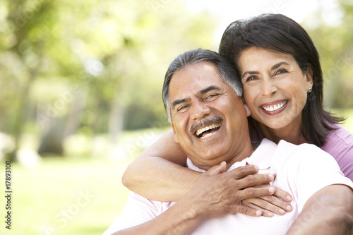 Portrait Of Senior Couple In Park - 17893108