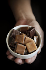 Caramel Candies in A Bowl