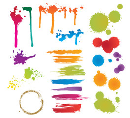 set of colorful stains