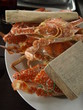 assiette de crabes cuits