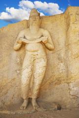 Potgul Vihara Statue, Polonnaruwa, Sri Lanka
