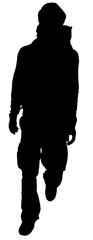 Hiking man in black