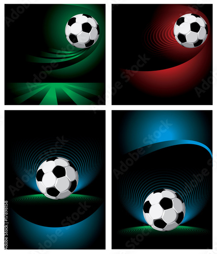 Set soccer background. Vector.