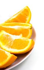 plate of orange segments