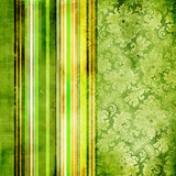 Fototapety green vintage striped paper