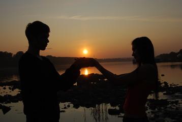 Love of sunset