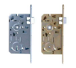 Door locks of two types isolated on white background