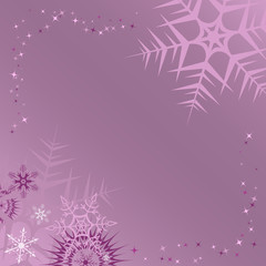 Lilac winter frame. Vector illustration