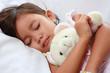 sleeping little asian girl