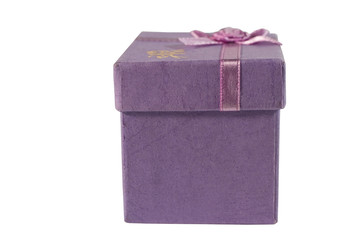 Lilac gift box (isolated on white)