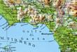 Cartina geografica del Lazio - Golfo di Gaeta