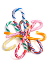 Colorful candy-canes