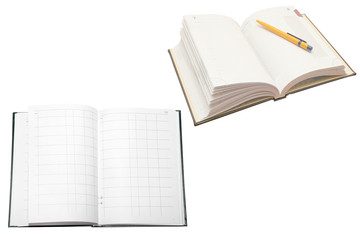 account book and note book