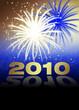 Silvester 2010 in Blau und Gold