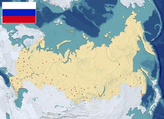 MAPPA RUSSIA E FEDERAZIONE RUSSA