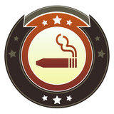 Cigar or smoking permitted icon on imperial vector button poster