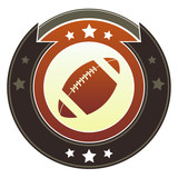 American Football icon on round imperial vector button poster