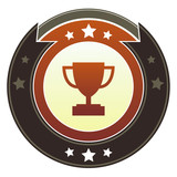Trophy, contest, or award icon on imperial vector button poster
