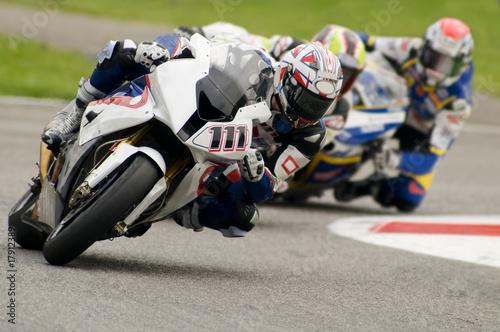 Poster moto gara superbike