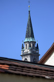 campanile che spunta dai tetti poster