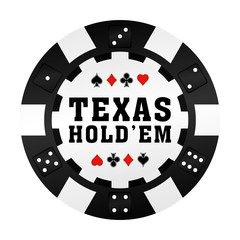 Texas Holdem Pokerchip Vektor