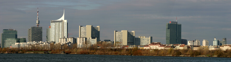 Wien UNO City und Donaucity Panorama