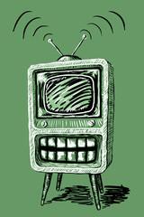 televisione con la bocca