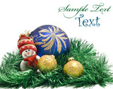 Christmas card - Plush toy with three colorful Balls poster