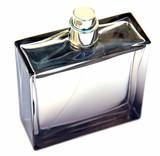 flacon parfum masculin fond blanc poster