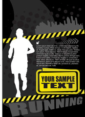 running man design