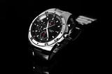 Men's watch on black