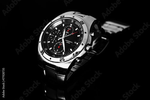 Men's watch on black - 17928735