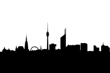 vienna city skyline silhouette