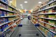 Leinwandbild Motiv Im Supermarkt