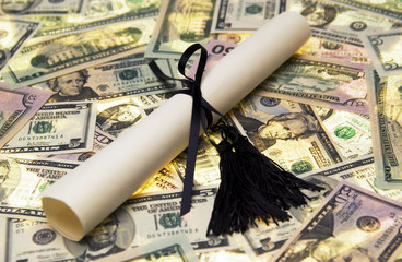 Diploma with money